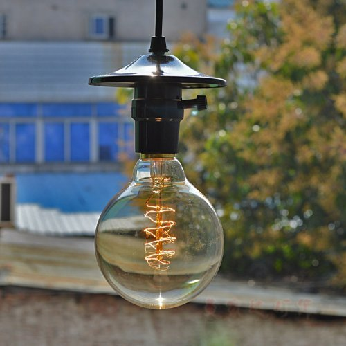 KINGSO Vintage Edison Bulb 60W Incandescent Antique Dimmable Light Bulb Dimmable for Home Light Fixtures Squirrel Cage Filament E27 Base G80 110V (4 Pack) 5
