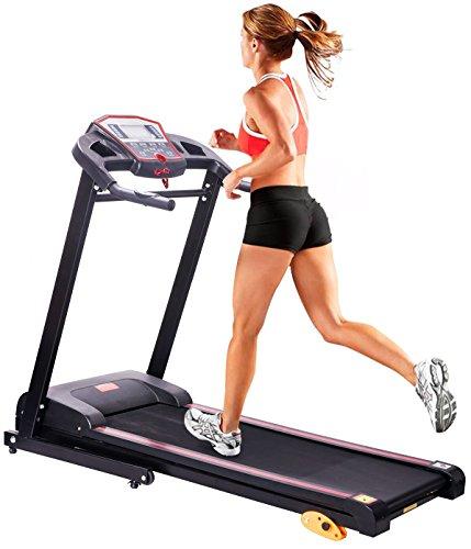 Merax 1.5HP Folding Electric Treadmill Motorized Running Machine LCD Panel (Black.)