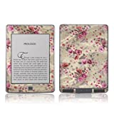 TaylorHe Colourful Decal Vinyl Skin for Amazon Kindle Touch Ultra-slim protection with pretty patterns MADE IN BRITAIN Floral on Fabric Vintage Style Pink and Purple