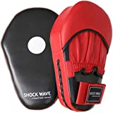 Red & Black Shock Wave Oval Focus Mitts