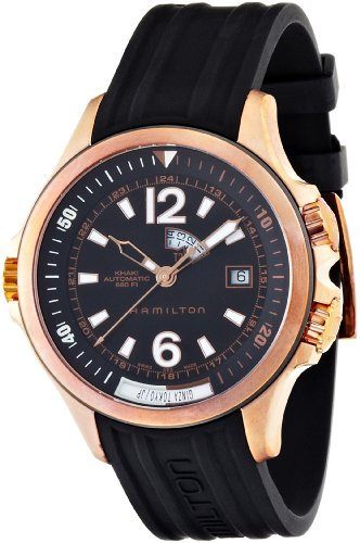 Hamilton Men's H77545735 Khaki Navy Black Dial Watch