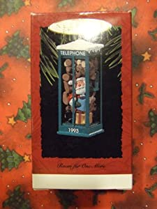Hallmark Keepsake Ornament - Room For One More Santa Claus Phone Booth Ornament 1993 (QX5382)