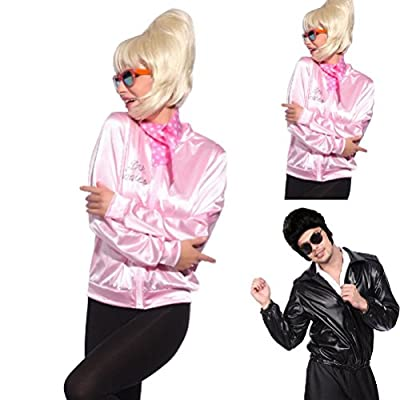 TDmall 50S Grease T-Bird Danny T Bird / Pink Ladies Jacket Costume Fancy Dress