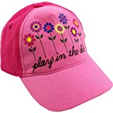 "John Deere ""Play in the Dirt"" Pink Toddler Baseball Cap Hat"