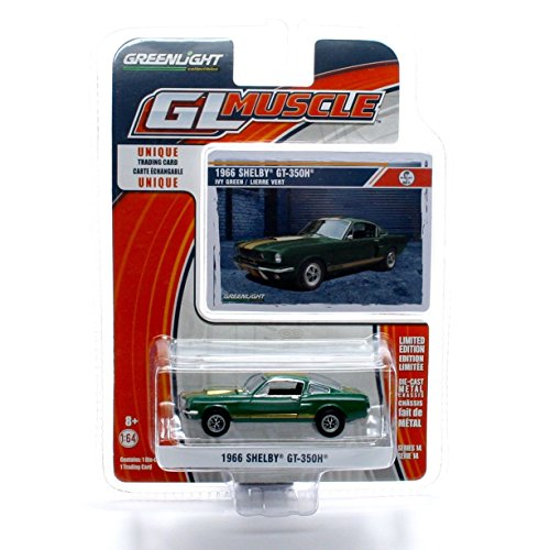1966 SHELBY GT-350H (Ivy Green) * GL Muscle Series 14 * 2015 Greenlight Collectibles Limited Edition 1:64 Scale Die-Cast Vehicle & Collector Trading Card