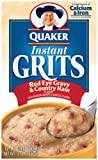 Quaker Instant Grits Red Eye Gravy &-Country Ham, 12-Count Boxes (Pack of 12)