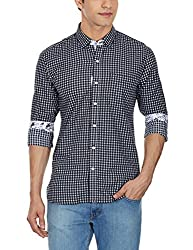 Punctuate Men's Casual Shirt (0666995111895_PNS161290_small_Black)