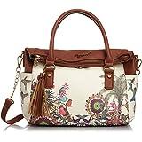 Desigual BOLS LIBERTY TROPIC Braun-Weiß 52X50T3-1001 Damen Handtasche Tasche Schultertasche Umhängetasche