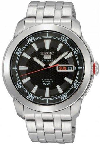 Seiko Men's SNZH63 Seiko 5 Automatic Black Dial Stainless Steel Watch