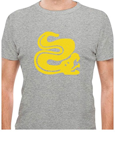 [TeeStars - Silver Snakes 90s Tribute Retro Halloween Team Costume T-Shirt Medium Gray] (Throwback Halloween Costumes)