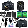 Canon EOS Rebel T5 DSLR Camera & Canon EF-S 18-55mm Lens. PagingZone Deluxe Kit Includes, 2 Pieces - 16GB Class 10 Card 3 + Canon Bag + Flash + Tripod + UV Filter + Card Reader + Cleaning Kit