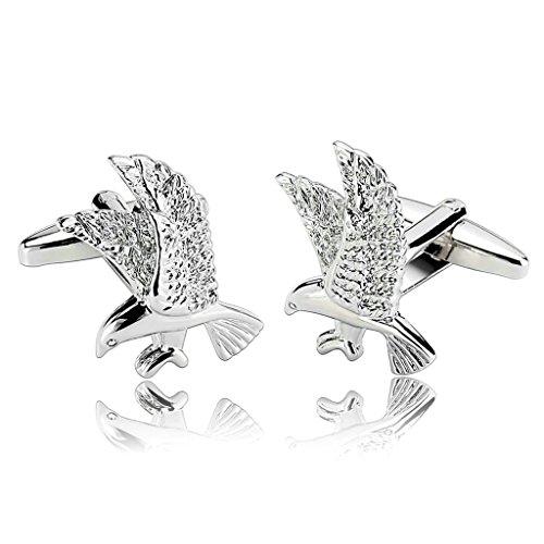 uomo-gemelli-acciaio-inossidabile-argento-fahion-hawk-osprey-eagle-bird-gemelli-per-uomini-per-aieni