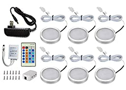 DQDF 6 Pcs Dimmable Under Cabinet Lighting Energy Saving LED Kit (White)