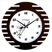Random Wings Ultra Wooden Wall Clock (Brown)