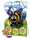 Santoro Interactive 3-D Swing Greeting Card, Bumble Bee (SSC28)