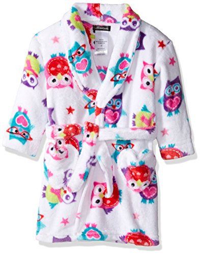 Cuddl Duds Toddler Girls' Robe, White, 2T