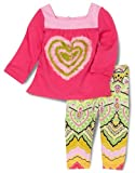HAVEN BABY Baby-Girls Infant Long Sleeve Square Neck Tunic Set, Patch, 18 Months
