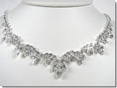 Bridal Crystal Necklace Set N1D64