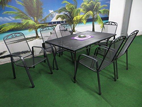 7-teilige-Luxus-Streckmetall-Gartenmbelgruppe-von-MFG-und-RRR-Stapelsessel-und-Gartentisch-150x90-anthrazit-P22