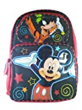 Full Size Black and Red Mickey Mouse Backpack - Mickey Mouse Bookbag
