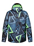 Quiksilver Mission Men's Snowboard Jacket Printed / Insulated blue Snowsooner Moroccan Size:XL