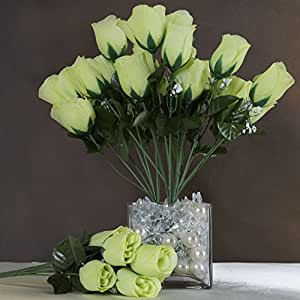 252 Silk Buds Roses Wedding Flowers Bouquets SALE Lime