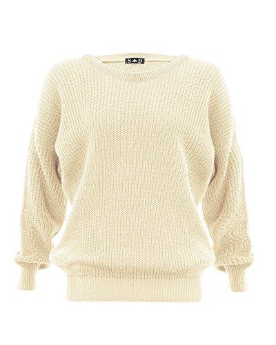 Style Divaa -  Maglione  - Maniche lunghe  - Donna Cream S / M