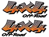 East Coast Vinyl Werkz 4x4 Bed decals - 2 piece set - True Fire & Diamond Plate