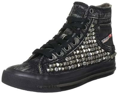 Diesel Women's EXPOSURE IV W Fashion Sneaker,Black,5 M US