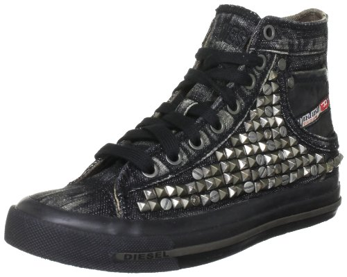 Diesel Women's Magnete Exposure Iv W Black Lace Ups Trainers Y00061PS933T8013 6 UK