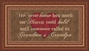 Grandma & Grandpa by Lauren Rader Sign 15x9 in Art Print Framed Picture