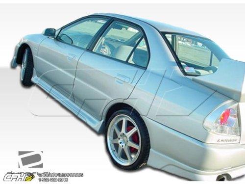 1997-2001 Mitsubishi Mirage 4DR Duraflex Evo 4 Body Kit - 4 Piece - Includes Evo 4 Front Bumper Cover (101883) Evo 5 Rear Bumper Cover (101886) Evo 5 Side Skirts Rocker Panels (101887)