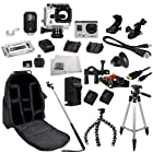 GoPro HERO3+ Black Edition Camera (CHDHX-302) + Action Pro Series All In 1 ATV/Bike Kit Designed for Bike Mount Motorcross, ATV, ROAD, MOUNTAIN, snowmobile + Extra Necessary Accessories