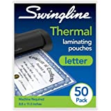Swingline Thermal Laminating Pouch, Letter Size, Standard Thickness, 50/Pack (3202017)