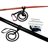Paddle Leash and Rod Leash Set with 2 Leashes and 1 Carabiner. Built to last, Made in the USA