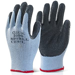 Black scaffolders builders gardening rubber latex work for Gardening gloves amazon