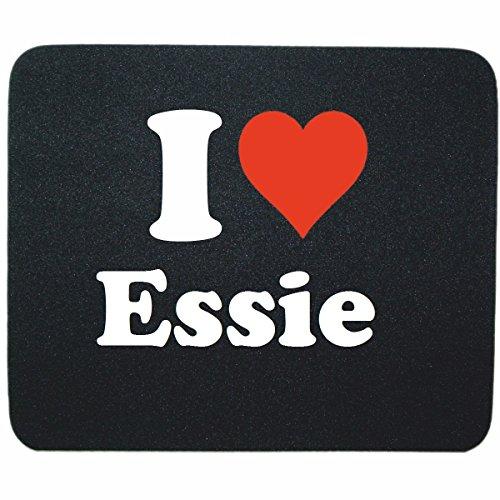 """Regali Esclusivi: Tappetini per il Mouse """"I Love Essie"""" in Nero, un Grande regalo viene dal Cuore - Ti amo - Mouse Pad - Antisdrucciolevole - Punte di Natale"""