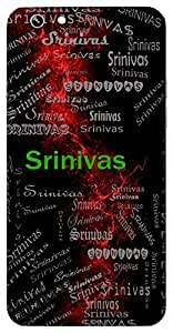 Srinivas (Abode Of Wealth) Name & Sign Printed All over customize & Personalized!! Protective back cover for your Smart Phone : Apple iPhone 5/5S