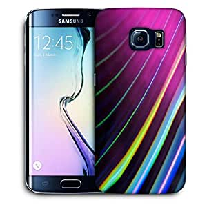 Snoogg Colour Lines Printed Protective Phone Back Case Cover For Samsung Galaxy S6 EDGE / S IIIIII