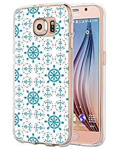 Awaye S6 Cases Vintage Hard Shell Protective Thin Fit Girly Blue Design