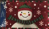 Nourison Holiday Accent Rug -Snowman RED