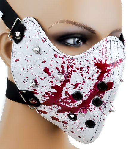 Bloody Spike Motorcycle Face Mask Horror Halloween Cosplay Anime Biker Paint Ball