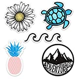 Cute Ocean/Beach/Adventure Vinyl Laptop and Water Bottle Decal Sticker Pack, Made in US (Color: Ocean / Beach)