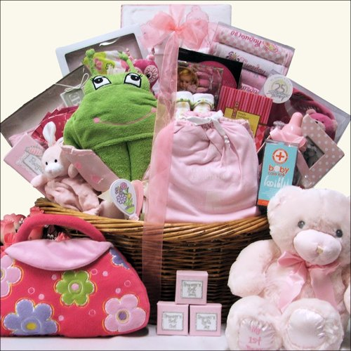 Great Arrivals Baby Gift Basket, Grand Welcome Girl