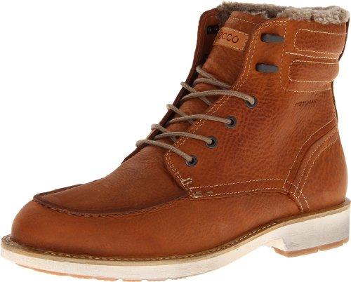 ECCO Men's Bendix Moc Toe Boot,Amber,44 EU/10-10.5 M US