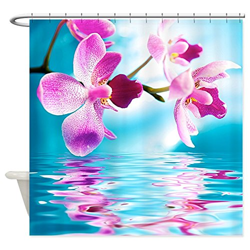 CafePress - Beautiful Orchids Water Reflection - Decorative Fabric Shower Curtain (Cafe Press Orchid Shower Curtain compare prices)