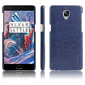 One Plus 3 Back Cover With Premium Luxury PU Leather + Soft Ultra Slim,Edges Protection,Anti Dust Leather Back Cover (Blue) One Plus 3 Back Cover By Vinnx
