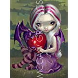 """Valentine Dragon by Jasmine Becket-Griffith 11""""x8"""" Art Print Poster by Bruce McGaw"""