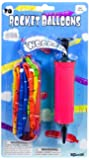 20 Rocket Balloons with Pump,(Colors May Vary),Various Packaging.