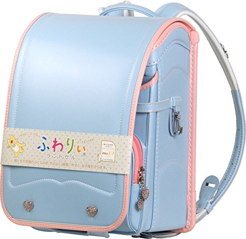 Softly Shii Widsith combicolor satchel «Sola (body) x light pink (rolled edge)» A4 clear file & Pocket file A4
